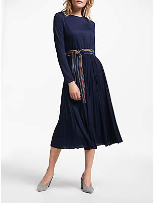Marella Dorato Pleated Dress, Navy