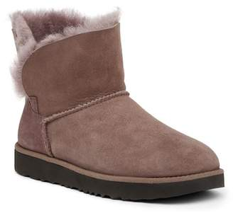 UGG Classic Cuff Mini Waterproof Genuine Shearling Suede Boot