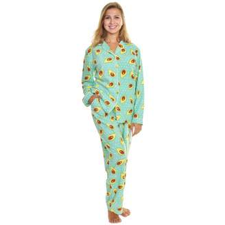 bc0e8d240b4 Angelina Womens Cozy Long Sleeve Pajama Set