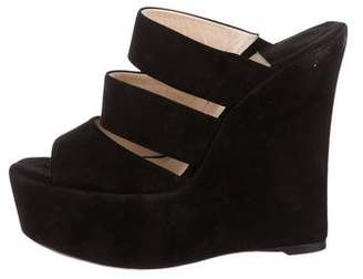 Baldan Suede Slide Wedges