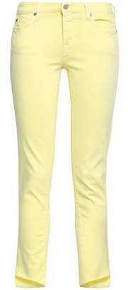 7 For All Mankind Cropped Low-rise Slim-leg Jeans