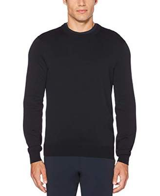 Perry Ellis Men's Jersey Knit Crew Neck Sweater