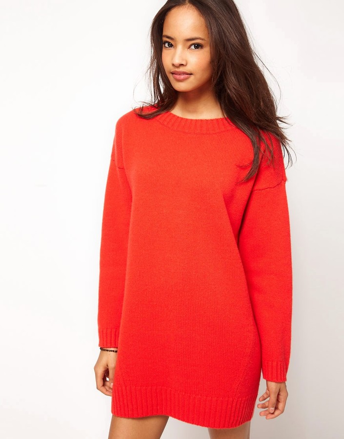 ASOS Premium Sweater Dress with Zip Back
