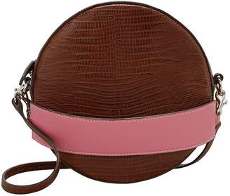 Little Liffner Tambourine Croc-Embossed Shoulder Bag