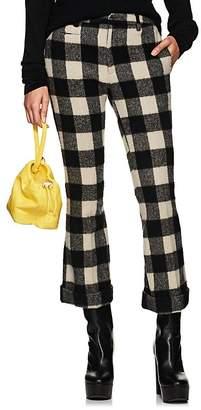 R 13 Women's Buffalo-Checked Wool-Blend Trousers