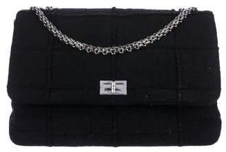 Chanel Felted Wool Jumbo Flap Bag