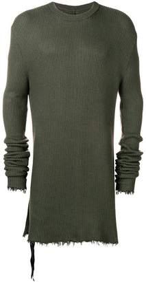 Unravel Project rib hybrid elongated knit jumper