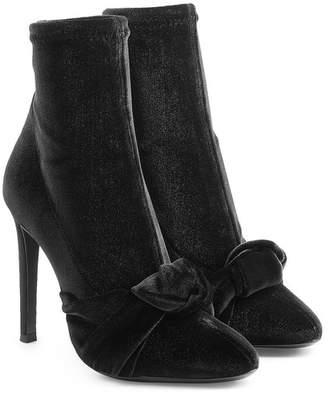 Giuseppe Zanotti Velvet Stiletto Boots