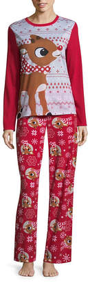 Disney Rudolph The Red Nose Reindeer Family Pajama Set- Women's