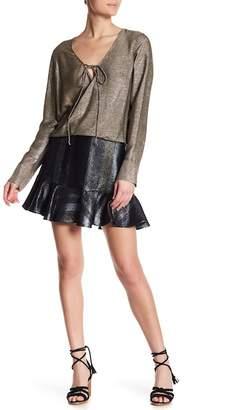 Derek Lam 10 Crosby Metallic Ruffled Mini Skirt