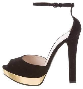 Bottega Veneta Ankle Strap Platform Sandals