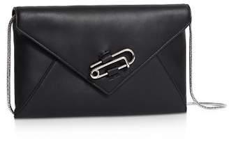 AllSaints Nancy Leather Convertible Crossbody Clutch
