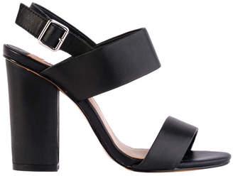 Siren Goddess Black Smooth Sandal