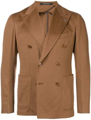 Tagliatore peaked lapels double-breasted blazer