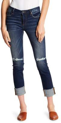Miss Me Cuffed Ankle Straight Leg Jeans