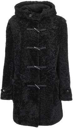 Saint Laurent Shearling Hooded Duffle Coat