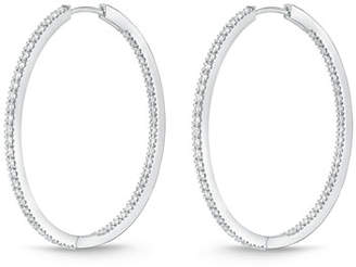 Memoire 18K White Gold & Diamond Infinity Hoop Earrings, 1.5 tdcw