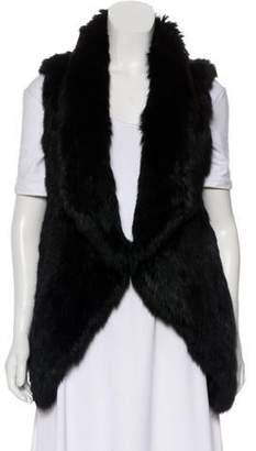 Yves Salomon Fur Open Front Vest