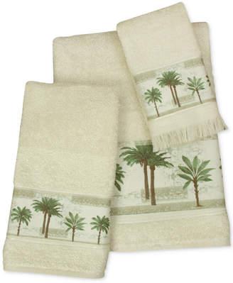 Bacova Citrus Cotton Palm-Print Bath Towel Bedding