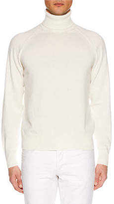 Tom Ford Men's Raglan-Sleeve Cashmere Turtleneck Sweater