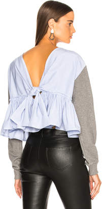 3.1 Phillip Lim Cropped Tie Back Sweater
