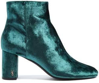 Saint Laurent Loulou velvet ankle boots