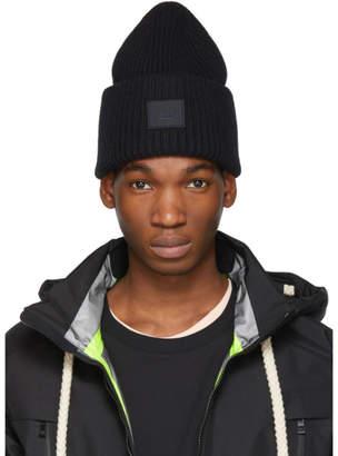Acne Studios Black Pansy N Face Beanie