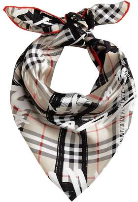 Burberry Scribble check scarf