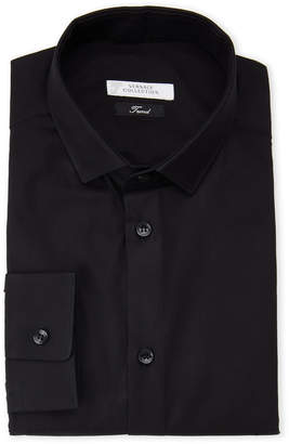 Versace Black Poplin Trend Fit Dress Shirt