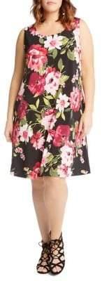 Karen Kane Plus Chloe Floral-Print Dress