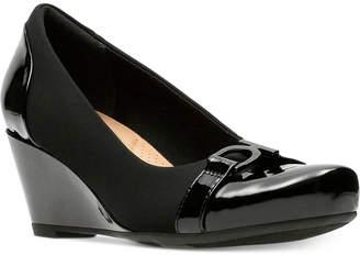 Clarks Collection Women's Flores Poppy Wedge Pumps Women's Shoes