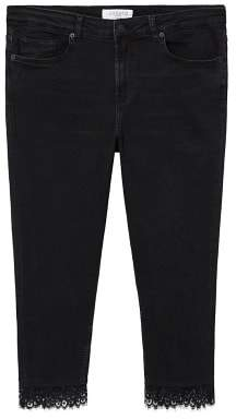 Violeta BY MANGO Lace slim jeans