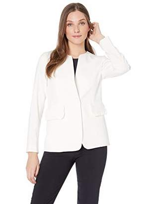 Nine West Women's 1 Button Jewel Collar KISS Front Stretch Jacket