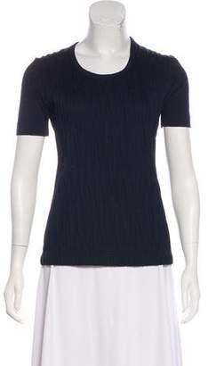 Akris Punto Textured Short Sleeve T-Shirt