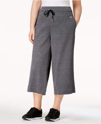 Calvin Klein Plus Size High-Waist Wide-Leg Culottes