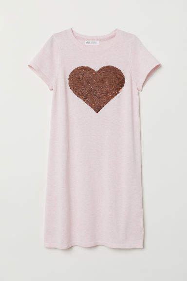 H&M - Dress with Applique - Pink