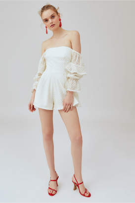 Keepsake ASPIRE PLAYSUIT ivory w gold