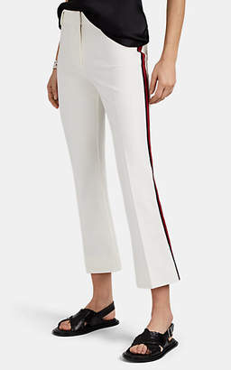 Derek Lam 10 Crosby Women's Side-Striped Cotton Crop Tuxedo Trousers - White