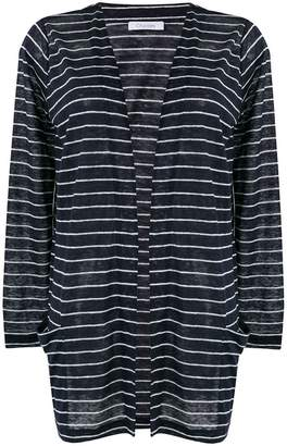Cruciani striped open cardigan