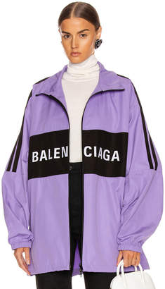 Balenciaga Zip Up Logo Jacket in Light Purple | FWRD