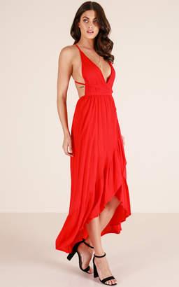 Showpo Colour Me In maxi dress in red