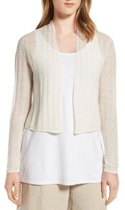 Women's Eileen Fisher Hemp Blend Crop Cardigan $188 thestylecure.com
