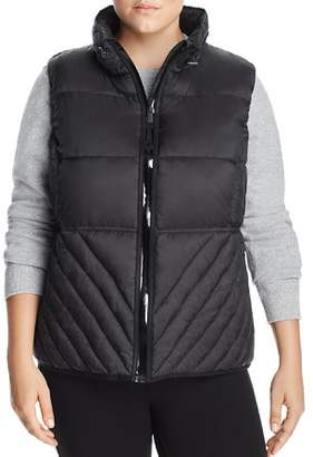 Andrew Marc Plus Packable Hooded Puffer Vest