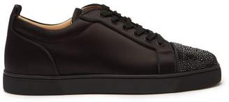 Christian Louboutin Louis Junior Strass Orlato Satin Trainers - Mens - Black