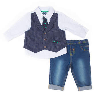 Little Lass 2-pc.Alligator Mock Vest Pant Set-Baby Boy