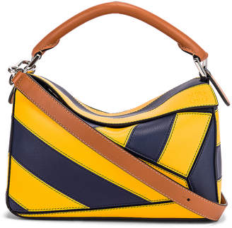 Loewe Puzzle Rugby Small Bag in Yellow Mango & Marine | FWRD