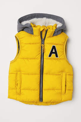 H&M Padded Vest - Yellow
