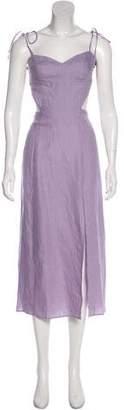 Reformation Linen Sleeveless Midi Dress w/ Tags