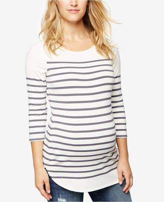 A Pea in the Pod Maternity Striped Boat-Neck Top