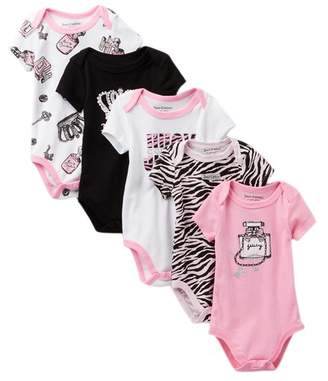 Juicy Couture Perfume Bottle Bodysuits - Pack of 5 (Baby Girls)